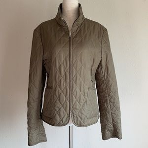 Burberry London Quilted Olive British Jacket Sz. S